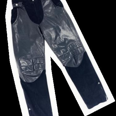Claude Montana 80s leather and suede pants