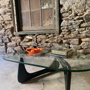 Mid century Coffee table mid century modern glass top coffee table Noguchi style coffee table by VintaDelphia