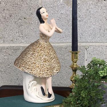 Vintage Ballerina Statue Retro 1950s Mid Century Modern + Ceramic + Ballet + Dancer + Figure + Hollywood Regency + Home and Shelving Decor by RetrospectVintage215