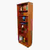 Slim and Tall Hundevad Danish Teak Adjustable Bookcase