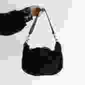 Clare V. Shearling Hobo Shoulder Bag