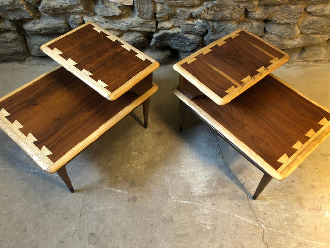 mid century end table Lane end table mid century step table a pair by VintaDelphia