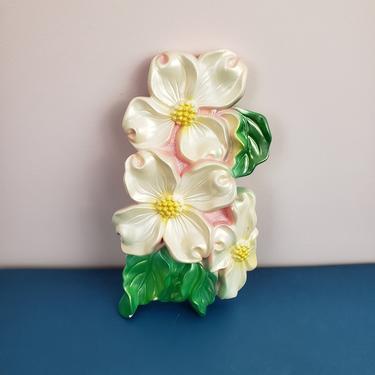 Vintage 1960's Dogwood Flower Chalkware / 70s Miller Studios Kitch Knick Knack Ceramic by SilhouettetsyVintage