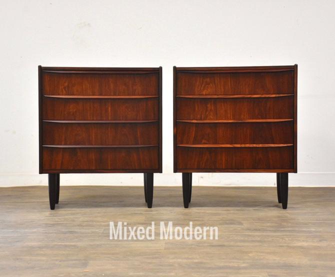 Danish Modern Rosewood Dresser Chests - A Pair by mixedmodern1