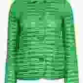 Kate Spade - Bright Green Quilted Button-Up Jacket Sz XS