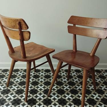 Sculptural Chair Pair Midcentury france marolles 1950s Charlotte Perriand french by CaribeCasualShop