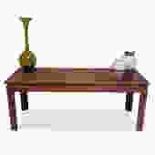 Burl Console Table by Irwin Winkler