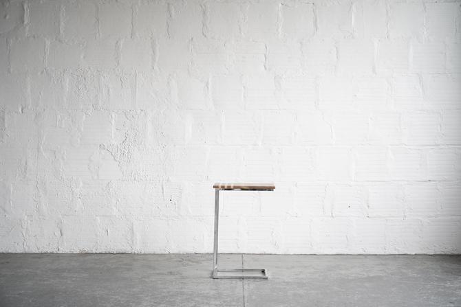 Walnut & Chrome Side Table