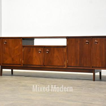"""102"""" Walnut Credenza TV Console by Stanley by mixedmodern1"""