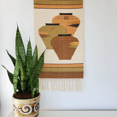 Southwest Woven Tapestry Wall Hanging | Fiber Art Wall Decor by pennyportland