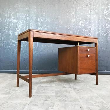 Mid Century Walnut desk by Kipp Stewart for Drexel