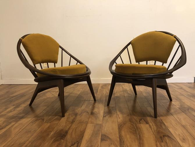 Kofod Larsen Peacock Chairs Pair
