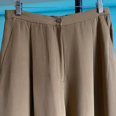 Silk High Waist Pants Café au lait 1980's by BeggarsBanquet