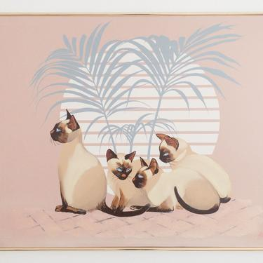 Large Format Cat Palm Painting