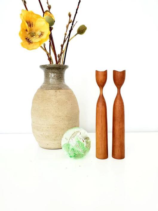 Rustic Vintage Studio Pottery Vase by pennyportland
