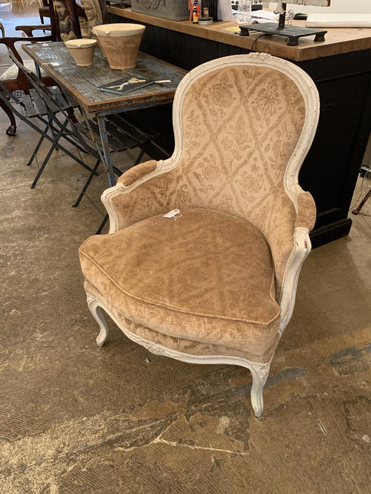 Antique French Chair Velvet by coloniaantiques