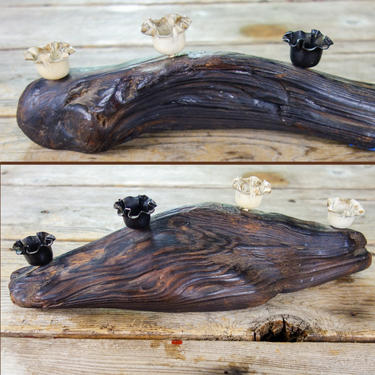 Wood Burl Candle Holder Raw Wood Dining Table Centerpiece for Rustic Cabin Decor 4 Taper Candleholder Large Candlestick Holder Table Setting by forestfathers