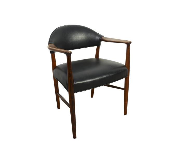 Rosewood Desk Chair Einar Larsen & Aksel Bender Madsen For Fritz Hansen Arm Chair by HearthsideHome