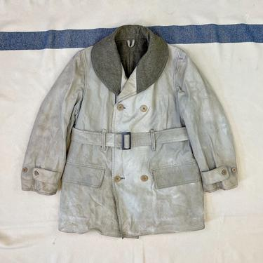 Size 40 Vintage US Army M-1938 Wool and Cotton Shawl Collar Belted Mackinaw Jeep Jacket Coat by BriarVintage