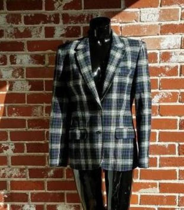 Vintage Pendleton Blue Plaid Blazer M Classic by FlashbackATX