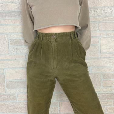Corduroy Olive Green Trouser Pants / Size 25 26 by NoteworthyGarments
