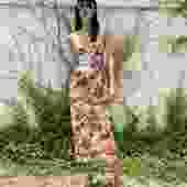 DOLCE & GABBANA 90s Floral Bustier Slip Dress