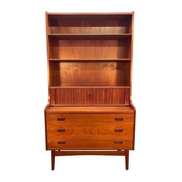 Vintage Danish Mid Century Modern Teak Secretary Bookcase by Johannes Sorth by AymerickModern
