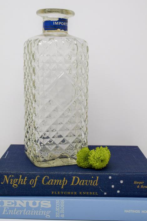 Vintage Austin Nichols Crystal Bourbon Bottle by CapitolVintageCharm