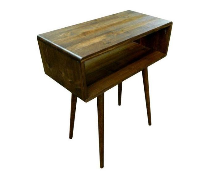 Mid Century Side Table End Table Nightstand by OrWaDesigns