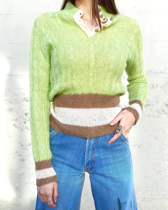 1960's Lime Green Mohair Sweater