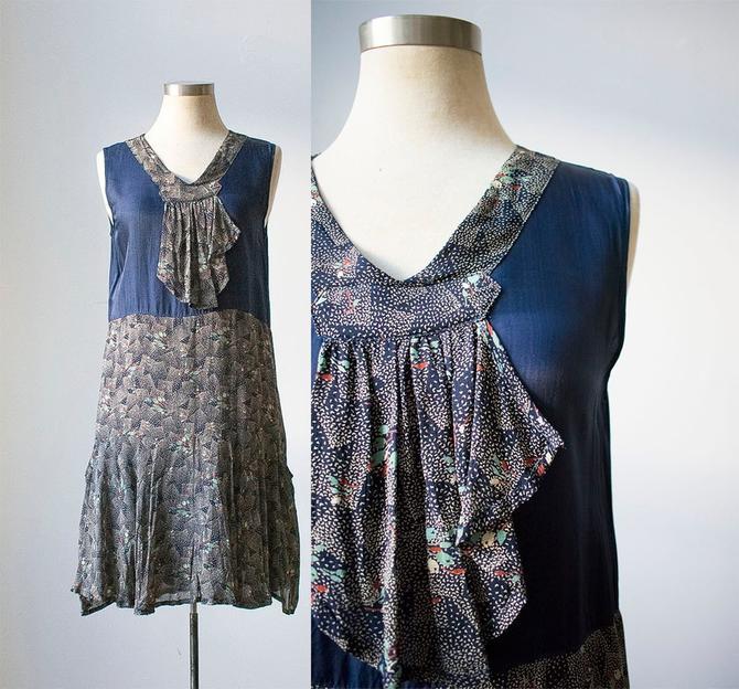 Vintage 1920s Style Dress / Vintage Flapper Dress / Vintage Cocktail Dress / Flapper Cocktail Dress / Vintage Party Dress / Flapper Skirt by milkandice
