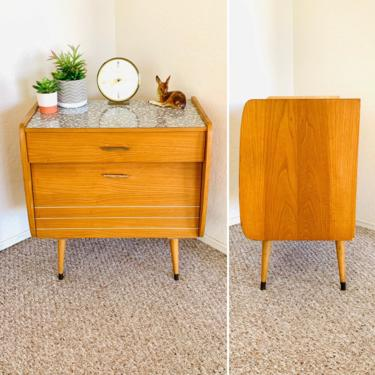 Mid Century Credenza Vintage Sideboard Cabinet German 50s 60s Atomic Formica by dadacat