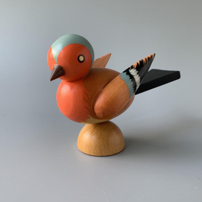 Hand-painted Wooden Bird by HomeAnthology