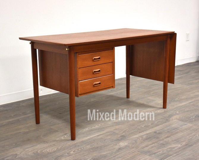Arne Vodder Danish Modern Teak Desk by mixedmodern1