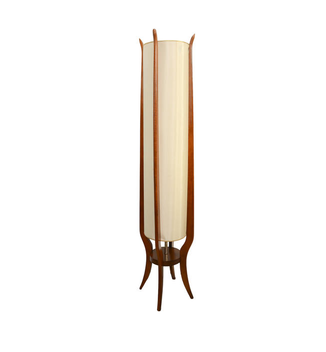 Wood Floor Lamp Modeline Huge Mid Century Modern Lamp Adrian Pearsall Style by HearthsideHome