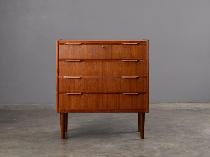 Mid Century Chest of Drawers Teak Dresser Nightstand Danish Modern by MadsenModern