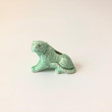 Petite Vintage Mint Green Tiger Planter by SergeantSailor