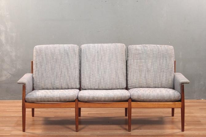 Glostrup Mobelfabrik Danish Modern Teak & Powder Blue Sofa – ONLINE ONLY