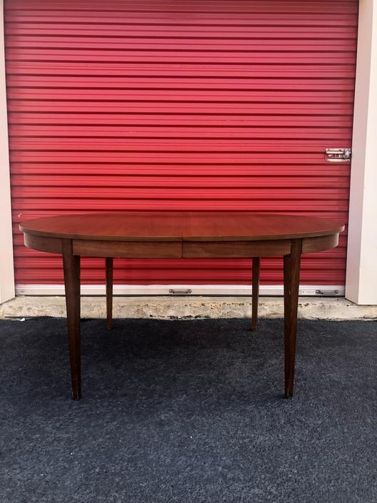 Mid Century Walnut Dining Table with 2 Leaf