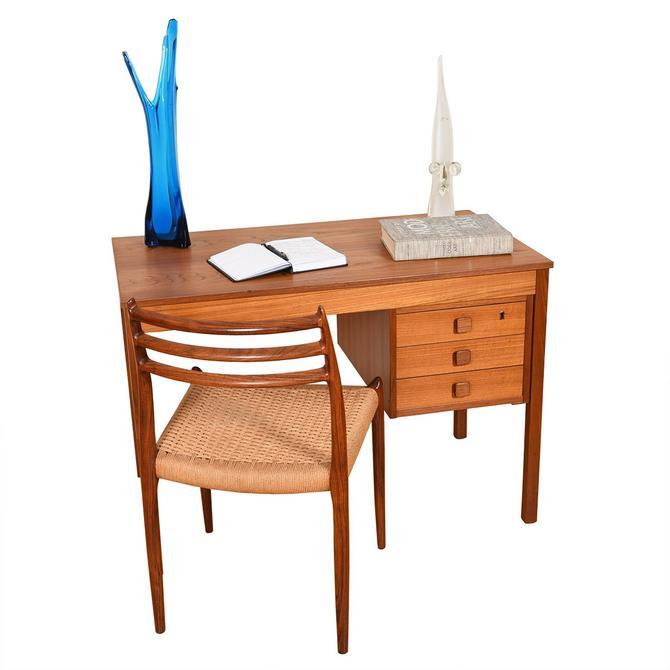 Danish Modern Teak Compact Writing Desk