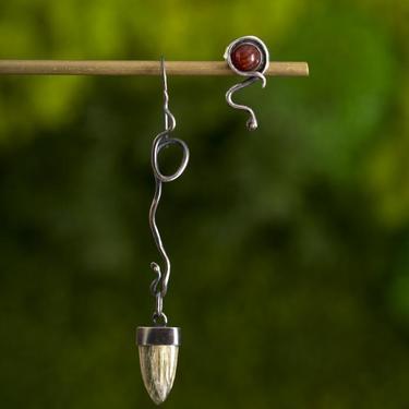 Oxidized Sterling Silver Black Mamba Earrings
