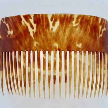 American Early 1800s Large Horn Back Comb, Antique Hair Comb, Hair Decoration, Hair Adornment, by CombAgain