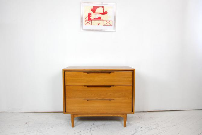 Vintage mcm small 3 drawer solid hickory dresser #617A   Free delivery in NYC and Hudson areas by OmasaProjects