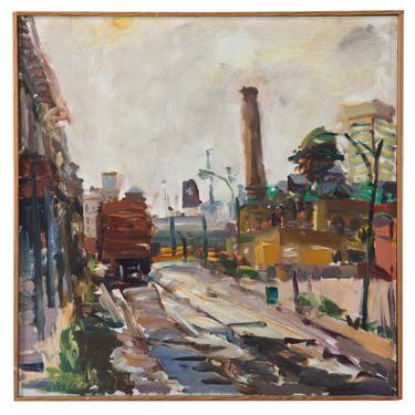 Raoul Middleman. Baltimore Tracks