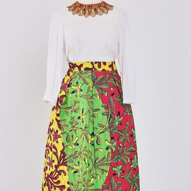 Ankara knee-length skirt with invisible pockets (Multi-color) by GLAMMfashions