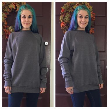 Vintage 1980's Grey Sweatshirt by Pannill by SurrealistVintage