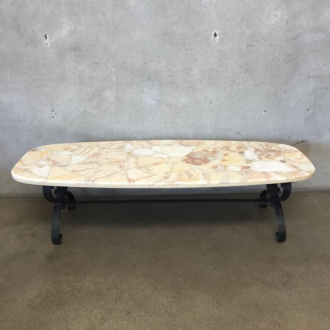 Vintage Mosaic Rock Coffee Table