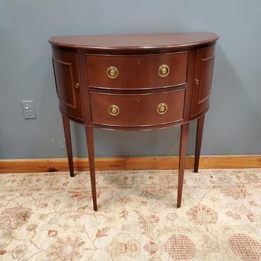 Baker Furniture Historic Charleston Mahogany Demilune Cabinet