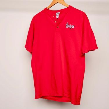 vintage NEBRASKA CORNHUSKERS 1990's college FOOTBALL henley vintage t-shirt top -- size medium by CairoVintage