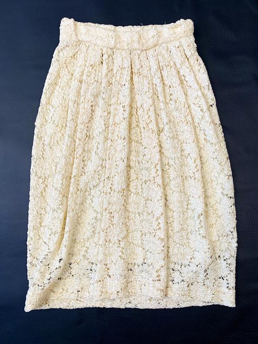 1980's Donna Karen Lace Skirt